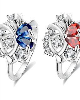925 hõbe sõrmus (siniste kividega)-0